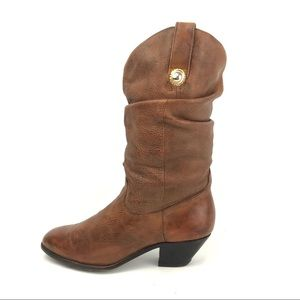Dingo Distressed Leather Cowboy Boots